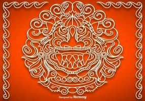 Vector Mythological Barong Face