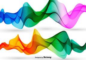 Vecteur vagues abstraites colorées