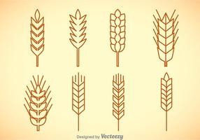 Wheat Stalk Vector Sets