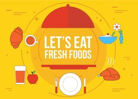 Gratis Verse Food Vector
