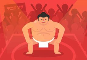 lottatore di sumo vettoriale