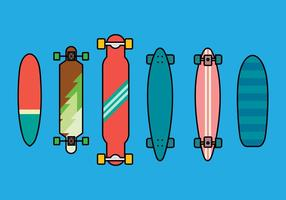 Longboard-vector-set-2