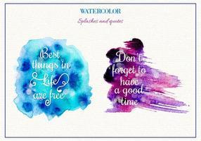 Gratis Vector Waterverf Spatten