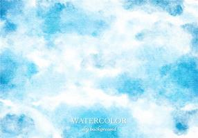 Vector Blue Watercolor Sky Background