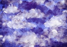 Vector Watercolor Sky Background
