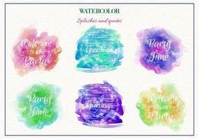 Gratis Vector vattenfärg stänk