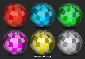Vetores 3D abstratos da esfera