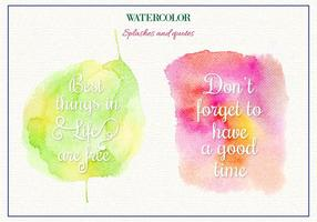 Free Vector Watercolor Spritzer