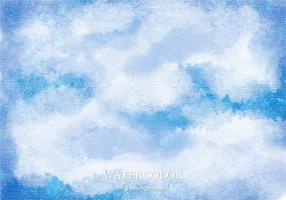 Vector Watercolor Sky Background