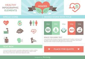 Healthy Infographic Elements Vector