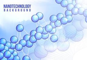 Nanotechnology Background Vector Free