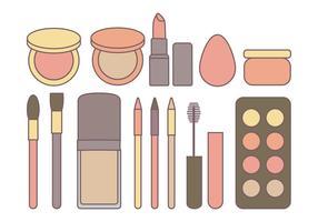 Vektor kosmetik samling