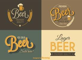 Libere las etiquetas retras del vector de la cerveza