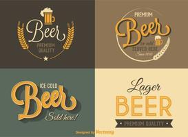 Retro Beer Vector Labels