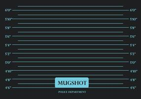 Mugshot Black Background Vector