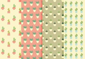 Patterns de cactus vectoriels