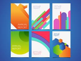 Annual Report Templates Vector