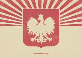 Polnischer Eagle Grunge Hintergrund