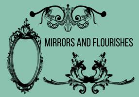 Speglar och blommor