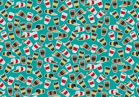 Coffee Sleeve Pattern Vector Free