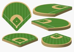 Diamant de baseball vectoriel de différents angles