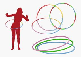 Hula hoop girl vector