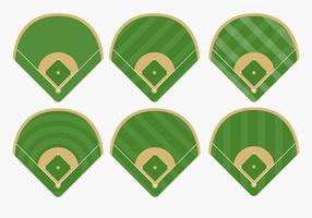 Types of Baseball Diamond Vectors