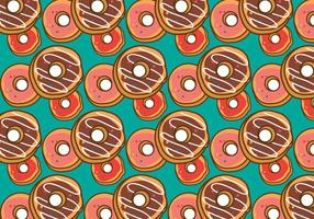 Free Donut Pattern Vector