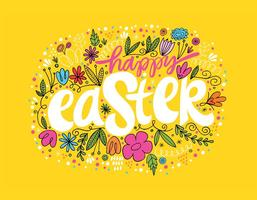 Hand Drawn Happy Easter Vector