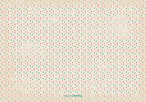 Retro Grunge Polka Dot Pattern Background
