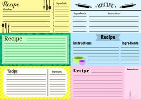 Free Recipe Cards Vector