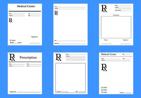 Freier Rezept-Auflage-Vektor