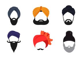 Vecteur libre de turban
