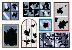 Gratis Broken Window Vector