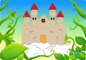 Castle Beanstalk Background Vector
