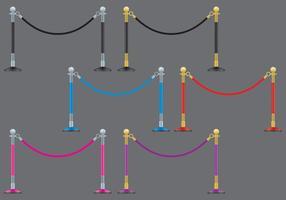 Cuerdas de terciopelo vector
