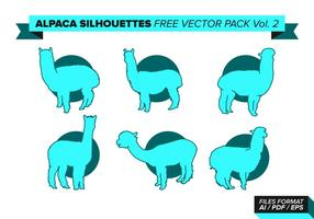 Alpaca silhouette pack vecteur gratuit vol. 2
