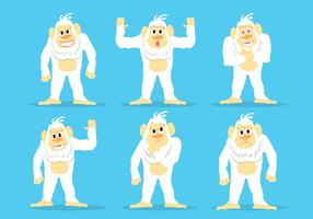 Yeti pictogram vector set