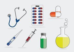 Ilustración de símbolos médicos vector