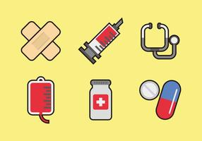 Médico Iconos Vectores
