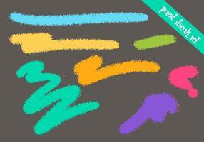 Paint Streak conjunto de vectores - pincel seco