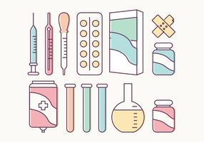 Elementos vetoriais médicos