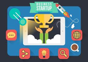 Vector de design de inicialização de Infografia Empresarial