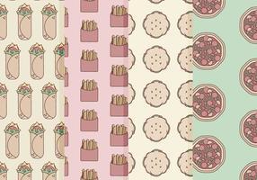 Vector patrones de comida rápida