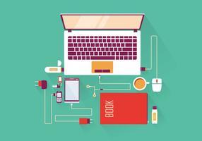 Vector de Mockup para Laptop de Escritório