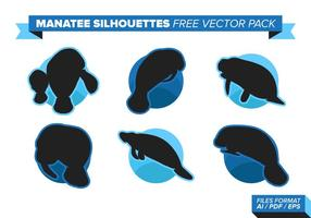 Manatee Silhouettes Free Vector Pack