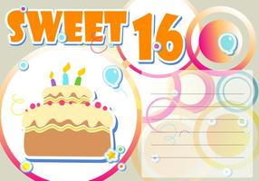 Sweet 16th Birthday Vector