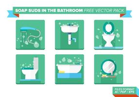 Savon Suds In The Bathroom Pack Vector gratuit