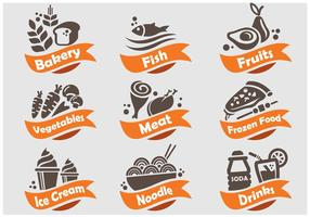 Food and Beverages Shop Icon vector