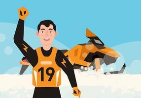 Vector jet ski
